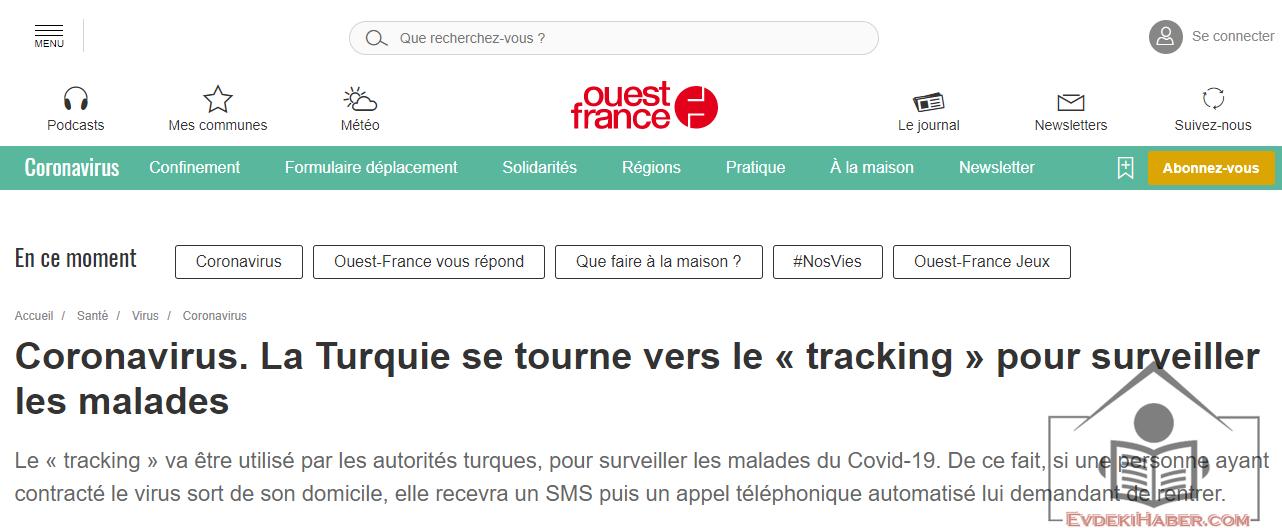 Türkiye'nin Koronavirüs Hasta Takip Sistemi Fransız Basınında